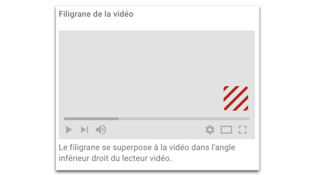 filigrane youtube branding watermark