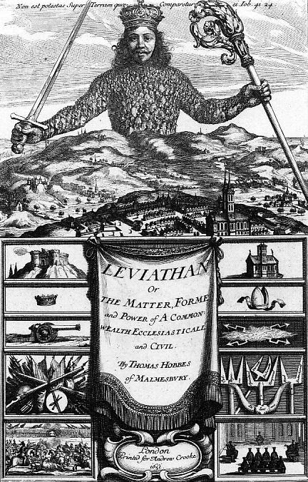 Couverture du Léviathan de Thomas Hobbes