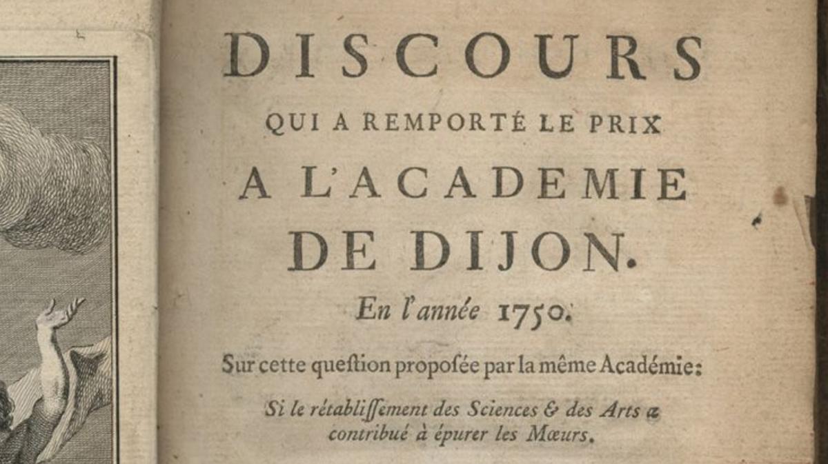 Discours sur les sciences et les arts, Rousseau